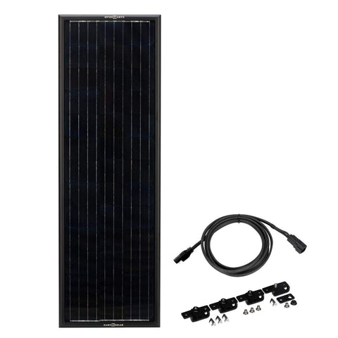 Zamp Solar Obsidian 90 Watt 4.7 Amp Long & Narrow Solar Panel Kit