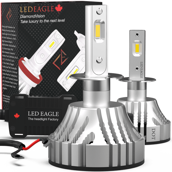 LED EAGLE DiamondVision H1 LED Headlight Bulbs - LED EAGLE CANADA