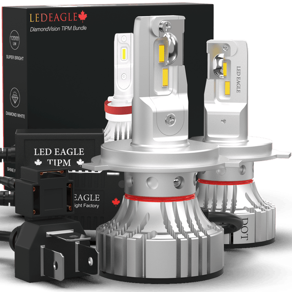 LED EAGLE DiamondVision H4(9003/HB2) LED Headlight Bulbs & TIPM Bundle - LED EAGLE CANADA