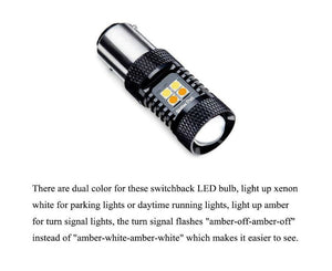 LED EAGLE Canbus 1157 DualColor for Brake Light, Rear Turning Light, Real Indicator Light, Reversing Light, Rear Fog Light - LED EAGLE CANADA
