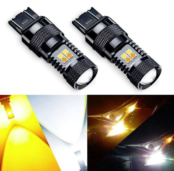LED EAGLE Canbus 7443 DualColor 16 LEDs 3030 SMD 12-24V for Brake Light, Rear Turning Light, Real Indicator Light, Reversing Light, Rear Fog Light - LED EAGLE CANADA