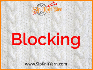 Blocking your Knitting - Why and How