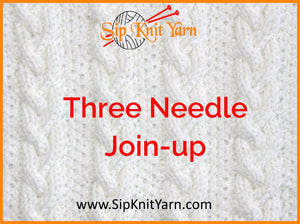 Three Needle Knitting Join-up - Why and How