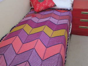 Zig Zag Bed Cover by Megan, Epping NSW
