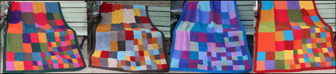 Hand knitted blankets, Tessellations