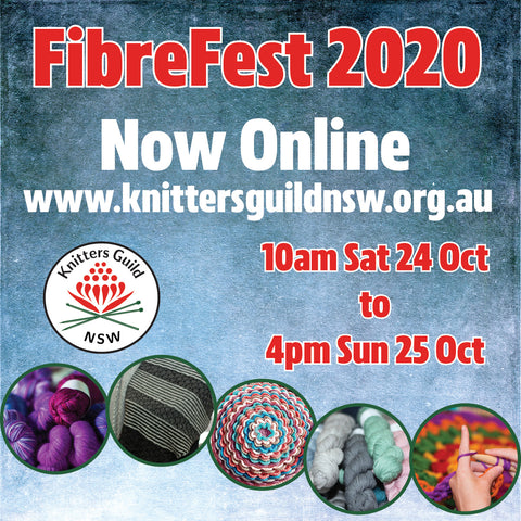 Poster advertising Fibre Fest 2020 at Singleton on 24th and 25th  October 2020.