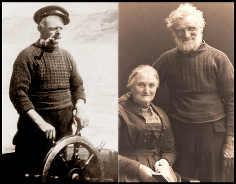 Photos of historic Gansey Sweaters.