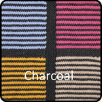 Load image into Gallery viewer, Easy knitting woolen blanket kit charcoal colorway closeup image.