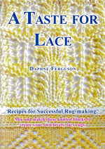 Load image into Gallery viewer, Sip Knit Yarn rug and blanket knitting lace pattern book. Front cover.
