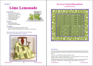 Sip Knit Yarn rug and blanket knitting lace pattern book. Page30 and 31.