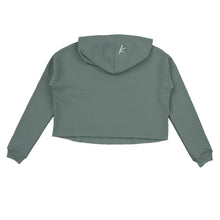 Load image into Gallery viewer, Stoked All Day Cropped Hoodie (Green / Cream)