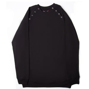 French Terry Sweatshirt in Black