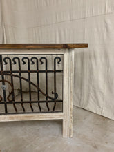 Load image into Gallery viewer, Iron Console made with French Iron and Shutter Panels