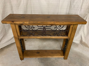 Console made of 1880's French Iron
