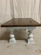 Load image into Gallery viewer, Coffee Table made from 1870's Split Farmhouse Beams