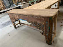 Load image into Gallery viewer, Teak Hand-carved Console