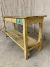 Load image into Gallery viewer, Antique Pine Console Table