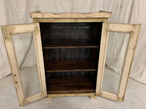 Glass Display Cabinet with Metal Sides and Back