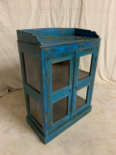 Teak Glass Display Cabinet