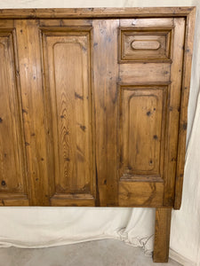 King Headboard made of French Door Panels