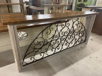 Iron Console made from French Hotel transom