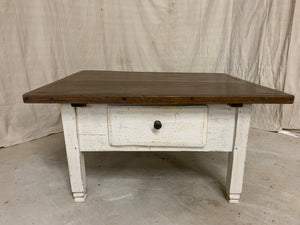 Coffee Table made from 1890's European Table