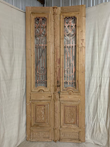 Pair of Carved French Doors 1880's