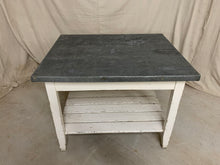 Load image into Gallery viewer, Zinc Top Island/ Table with Storage Shelf