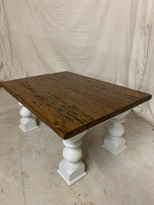 Coffee Table made from 1870's Split Farmhouse Beams