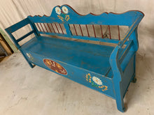 Load image into Gallery viewer, European Hand Painted Pine Storage Bench