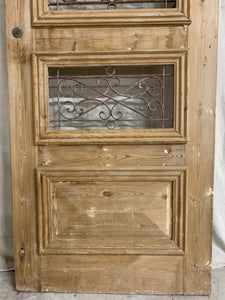Single French Door with Iron Insert- Pantry Door