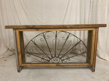 Load image into Gallery viewer, Iron Console made from 1880's French Iron Transom