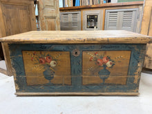 Load image into Gallery viewer, Hand painted European Trunk, circa 1848