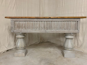 Console made from 1880's French Shutters