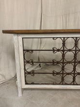 Load image into Gallery viewer, Console made from 1890's French Iron and Panels