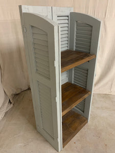 Shutter Shelves made from 1890's French Shutters