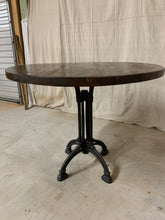 Load image into Gallery viewer, Round Iron Base Table with French Beam Top