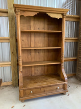Load image into Gallery viewer, Pine Bookcase made from Eastern European Armoire