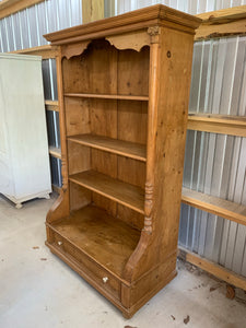 Pine Bookcase made from Eastern European Armoire