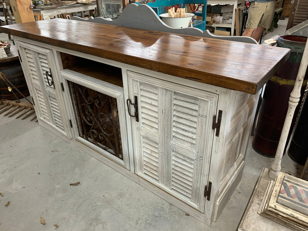 Console/ TV Cabinet made of French Architecturals