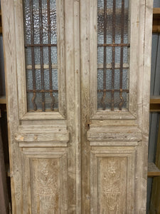 Pair of French Carved Doors (Narrow Set)