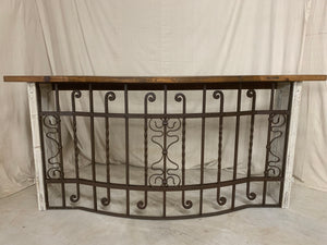 Console made from 1870's French Iron Balcony