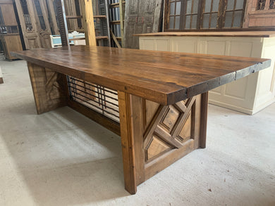 Table made from French Door