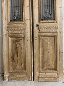 Pair of French Doors with Iron Inserts