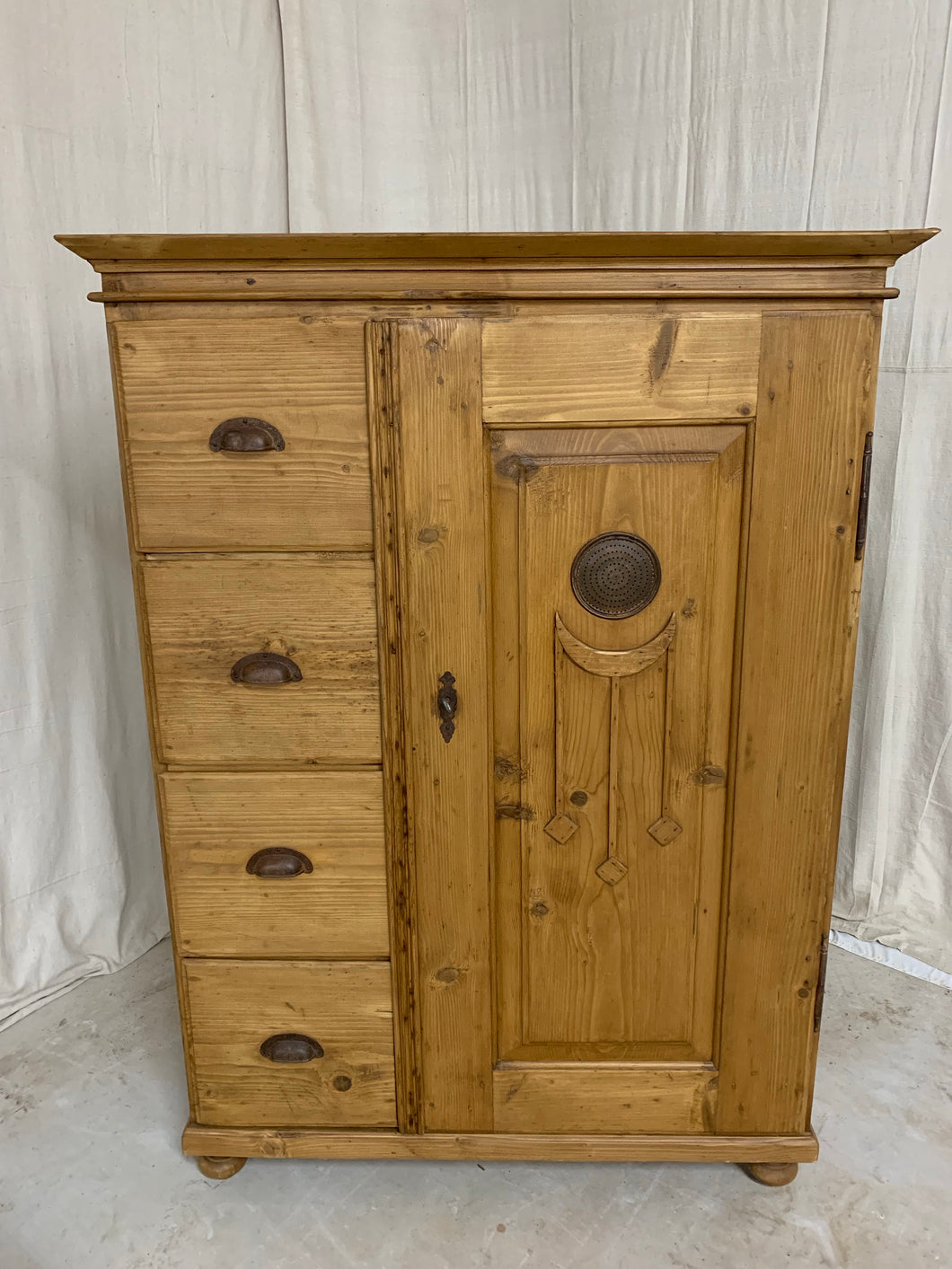 Pine Bread Cupboard