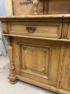 Two Piece Pine Cupboard