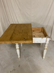 Flip-top Table with White Base