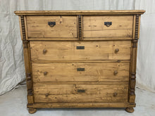 Load image into Gallery viewer, Antique European Pine Chest of Drawers