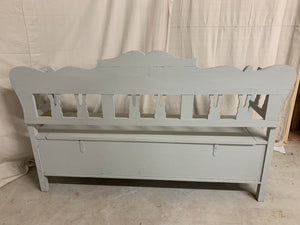 Antique European Pine Storage Bench