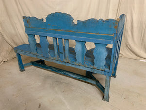 Hand Painted European Corner Bench